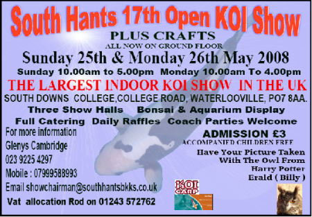 South Hants Koi Show - 25/26th May