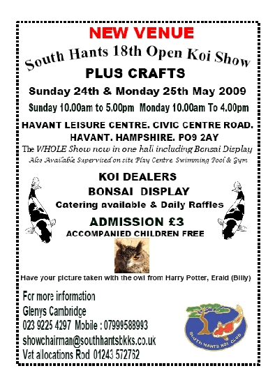 South Hants Koi Show - 24/25th May